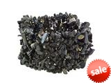 "Black Onyx Stretchy Bracelet - 1.5"" Wide"