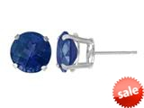 5mm Round Stud Created Sapphire Earrings  - Blue style: E1740CRS