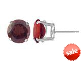 5mm Round Stud Garnet Earrings