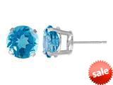 5mm Round Stud Blue Topaz  Earrings  - Blue