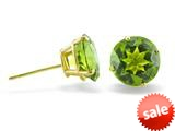 14k Yellow Gold 8mm Round Peridot Stud Earrings style: E3771P