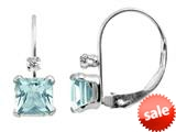 Blue Topaz 5mm Lever Back Earrings