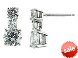 White Cubic Zirconia 6mm Post-With-Friction-Back Earrings style: E4565CZ