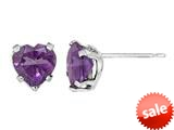 6x6mm Heart Shaped Amethyst Post-With-Friction-Back Earrings style: E5511A