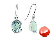9x7mm Blue Topaz Fish Hook Earrings style: E6606SKY