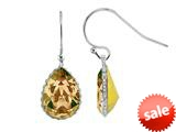 Color Craft™ 14x10 mm Pear Shape Golden Genuine Swarovski Crystal Drop Ear Wire Earrings style: E7225SWGL