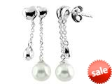 6mm Drop Cultured Freshwater Pearl Post-With-Friction-Back Earrings