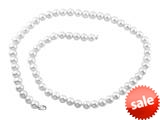 7.5-8.00mm Cultured Freshwater White Potato Pearls 18 Inch Necklace