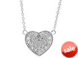 1.75mm Heart Shaped CZ Necklace