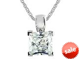 7x7mm White Cubic Zirconia Antique Shaped Pendant with 18 Inch Chain style: P5860CZ