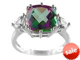 10x10mm Antique Shaped Mystic Topaz and White Topaz Ring style: R5316MUL10