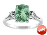 9x7mm Antique Shaped Green Quartz and White Topaz Ring style: R7980MGQ