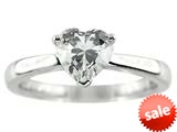 7x7mm  White Cubic Zirconia Heart Shaped Ring style: R7985CZ