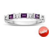 3x2mm Amethyst and Created White Sapphire Band Ring style: R8166A