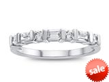 3x2mm Created White Sapphire Band Ring style: R8166CRWS