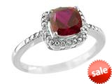 6x6mm Cushion Shaped Created Ruby Ring style: R8625SPCRR