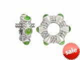 Storywheel® Cab Peridot Ring Bead / Charm style: W18P