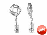 Storywheel® Created White Sapphire Bottle Dangle Bead / Charm style: W250