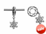 Storywheel® Snowflake Dangle Bead / Charm style: W25