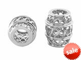 Storywheel® Elongated Pierced Spacer Bead / Charm style: W342