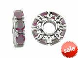 Storywheel® Rhodalite Birthstone Bead / Charm style: W350RH