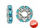 Storywheel® Swiss Blue Topaz Birthstone Bead / Charm style: W350SW