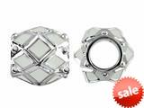 Storywheel® White Enamel Bead / Charm style: W408WHT