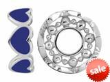 Storywheel® Navy Blue Enamel Hearts Bead / Charm style: W419BLU