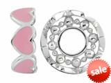 Storywheel® Pink Enamel Hearts Bead / Charm style: W419PNK