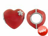 Storywheel® Red Enamel Puffed Heart Bead / Charm