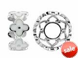 Storywheel® White Enamel Bead / Charm style: W425WHT