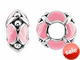 Storywheel® Pink Enamel Bead / Charm style: W436PNK