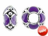 Storywheel® Purple Enamel Bead / Charm style: W436PUR