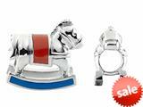 Storywheel® Rocking Horse Enamel Bead / Charm style: W469