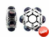 Storywheel® Black Mother of Pearl Bead / Charm style: W540BLKMOP