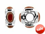 Storywheel® Red Agate Bead / Charm style: W544AGRED