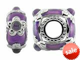 Storywheel® Light Purple Enamel And Amethyst Bead / Charm style: W551A