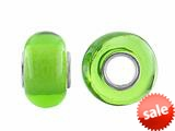 Storywheel® Light Green Glass Bead / Charm style: W647GRN