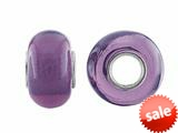 Storywheel® Dark Purple Glass Bead / Charm style: W647PUR