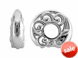 Storywheel® Created White Sapphire Dolphin Bead / Charm style: W648