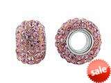Storywheel® Light Pink Crystal Bead / Charm style: W657LGTPNK