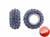 Storywheel® Light Purple Crystal Bead / Charm style: W657LTPURP