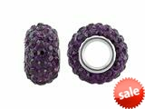 Storywheel® Dark Purple Crystal Bead / Charm