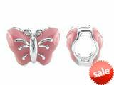 Storywheel® Butterfly Pink Enamel Bead / Charm style: W675