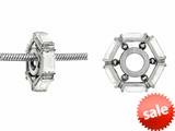 Storywheel® White Topaz Bead / Charm style: W6WT