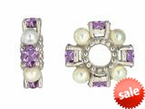Storywheel® Amethyst And Cultured Pearl Bead / Charm style: W72APRL