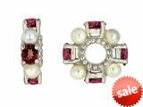 Storywheel® Garnet And Cultured Freshwater Pearl Bead / Charm style: W72GPRL