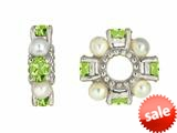 Storywheel® Peridot And Cultured Pearl Bead / Charm style: W72PPRL