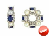 Storywheel® Sapphire And Cultured Pearl Bead / Charm style: W72SPRL