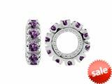 Storywheel® Amethyst Birthstone Bead / Charm style: W9A